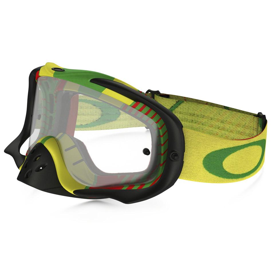 Oakley - Crowbar Biohazard Rasta очки желто-зеленые, линза прозрачная