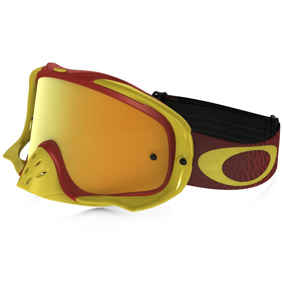 Oakley - Crowbar Shockwave очки красно-желтые, линза зеркальная желтая 24K