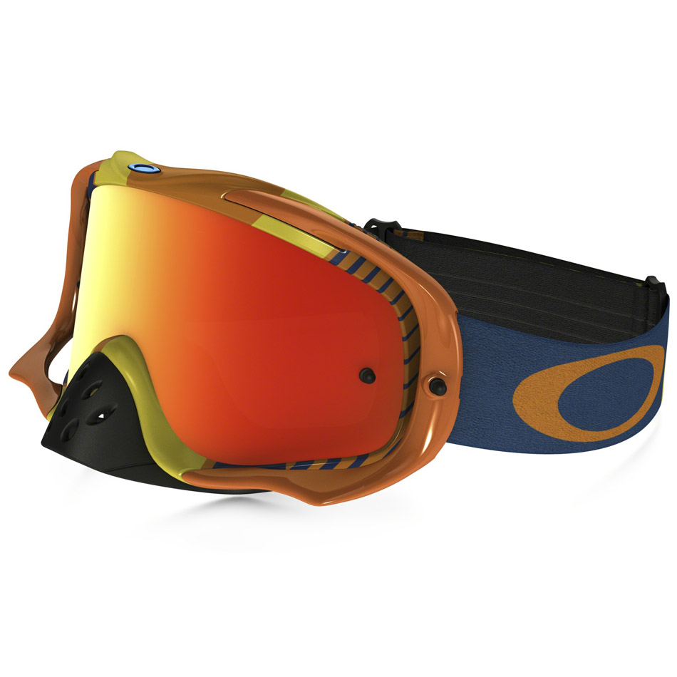 Oakley - Crowbar Biohazard очки оранжево-синие, линза оранжевая Iridium
