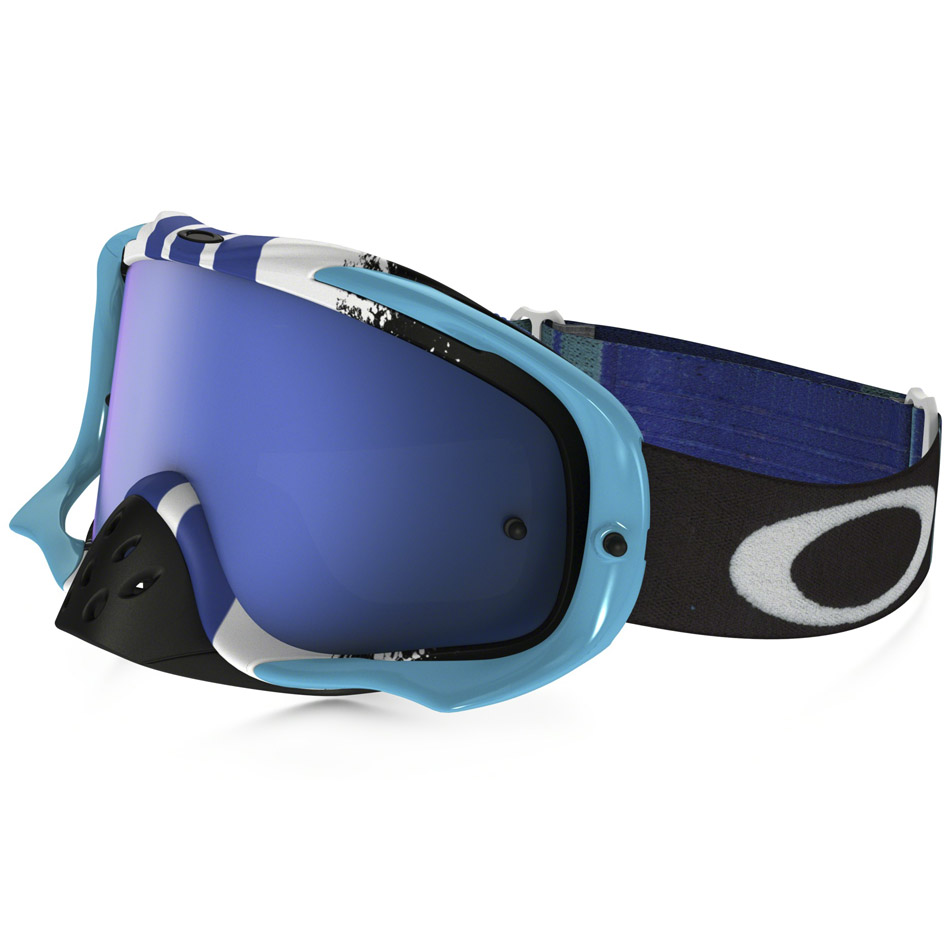 Oakley - Crowbar Pinned Race очки сине-белые, линза синяя Iridium