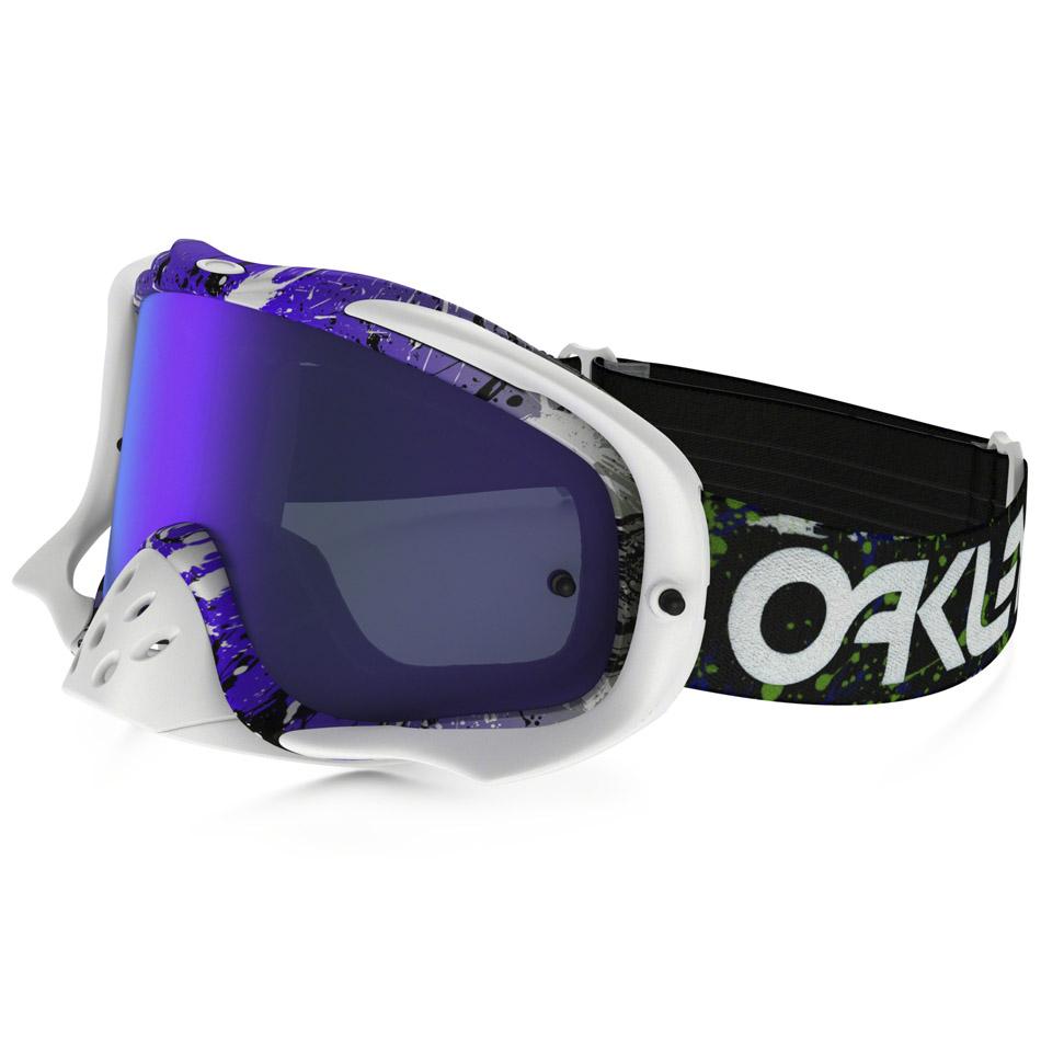 Oakley - Crowbar Splatter очки фиолетово-белые, линза зеркальная фиолетовая