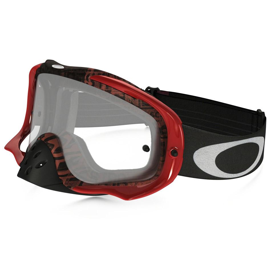 Oakley - Crowbar Distress очки красно-оранжевые, линза прозрачная