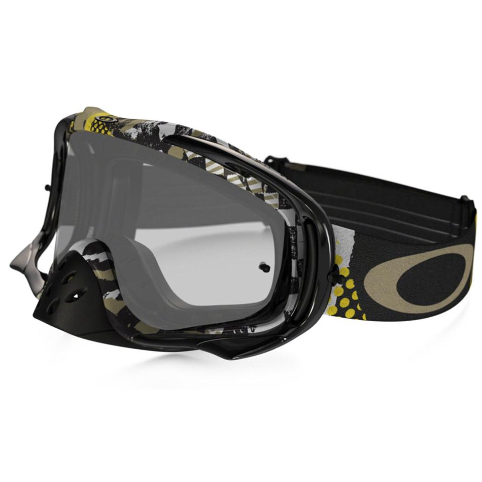 Oakley - Crowbar Mosh Pit очки черно-золотистые, линза прозрачная