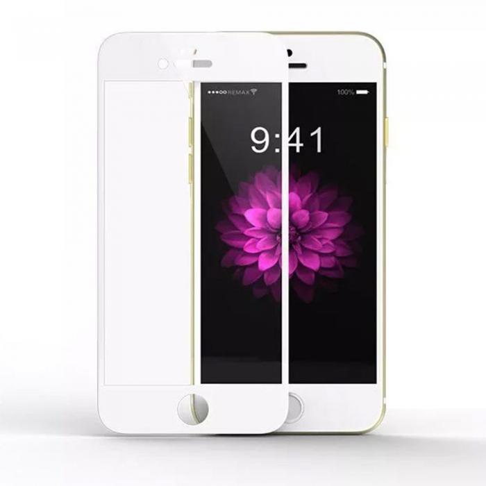 Защитное 3D стекло для iPhone 7/8 с рамкой силиконовый край (белый)