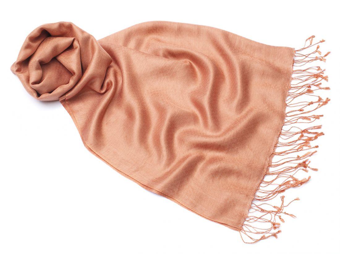 Нежный шарф-палантин 70% шелка 30% шерсти (СПб)