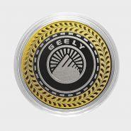 Geely, монета 10 рублей, с гравировкой, монета Вашего авто