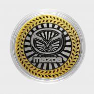 MAZDA, монета 10 рублей, с гравировкой, монета Вашего авто