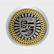 Porsche, монета 10 рублей, с гравировкой, монета Вашего авто