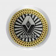 RENAULT, монета 10 рублей, с гравировкой, монета Вашего авто