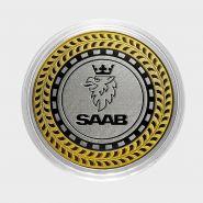 SAAB, монета 10 рублей, с гравировкой, монета Вашего авто