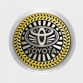 TOYOTA, монета 10 рублей, с гравировкой, монета Вашего авто