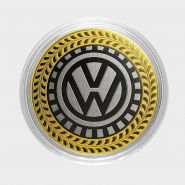 Volkswagen, монета 10 рублей, с гравировкой, монета Вашего авто
