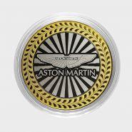 ASTON MARTIN, монета 10 рублей, с гравировкой, монета Вашего авто