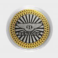 BENTLEY, монета 10 рублей, с гравировкой, монета Вашего авто