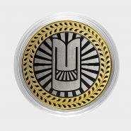 МОСКВИЧ, монета 10 рублей, с гравировкой, монета Вашего авто