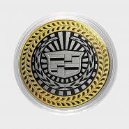 КАДИЛЛАК, монета 10 рублей, с гравировкой, монета Вашего авто