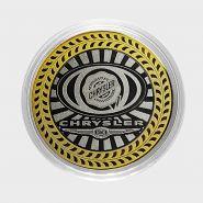 CHRYSLER, монета 10 рублей, с гравировкой, монета Вашего авто