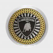 LAMBORGHINI, монета 10 рублей, с гравировкой, монета Вашего авто