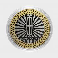 LINCOLN, монета 10 рублей, с гравировкой, монета Вашего авто