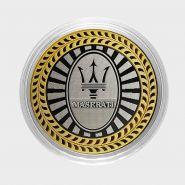 MASERATI, монета 10 рублей, с гравировкой, монета Вашего авто