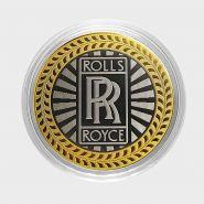 ROLLS ROYCE, монета 10 рублей, с гравировкой, монета Вашего авто