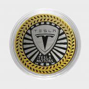 TESLA, монета 10 рублей, с гравировкой, монета Вашего авто