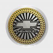 CHEVROLET, монета 10 рублей, с гравировкой, монета Вашего авто