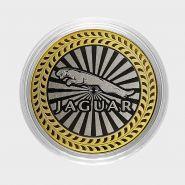 JAGUAR, монета 10 рублей, с гравировкой, монета Вашего авто