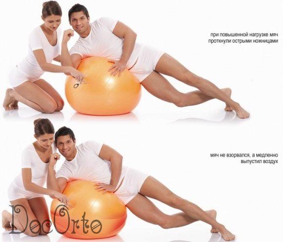 М-255 Мяч гимнастический 55см с ABS ТРИВЕС