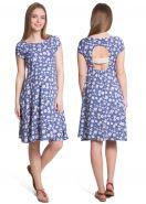 """Платье """"Магнолия"""" для беременных и кормящих; цвет: васильковый"""