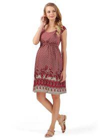 """Платье """"Павлина"""" для беременных и кормящих; цвет: бордовый"""