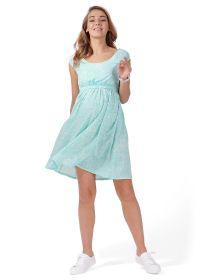 """Платье """"Павлина"""" для беременных и кормящих; цвет: ментол/белый"""