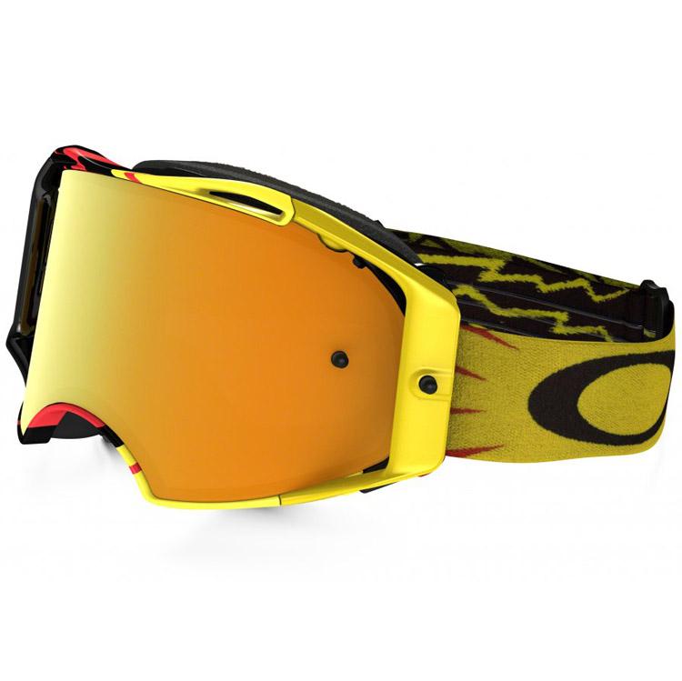 Oakley - Airbrake Hi Voltage очки красно-черные, линза зеркальная желтая 24K