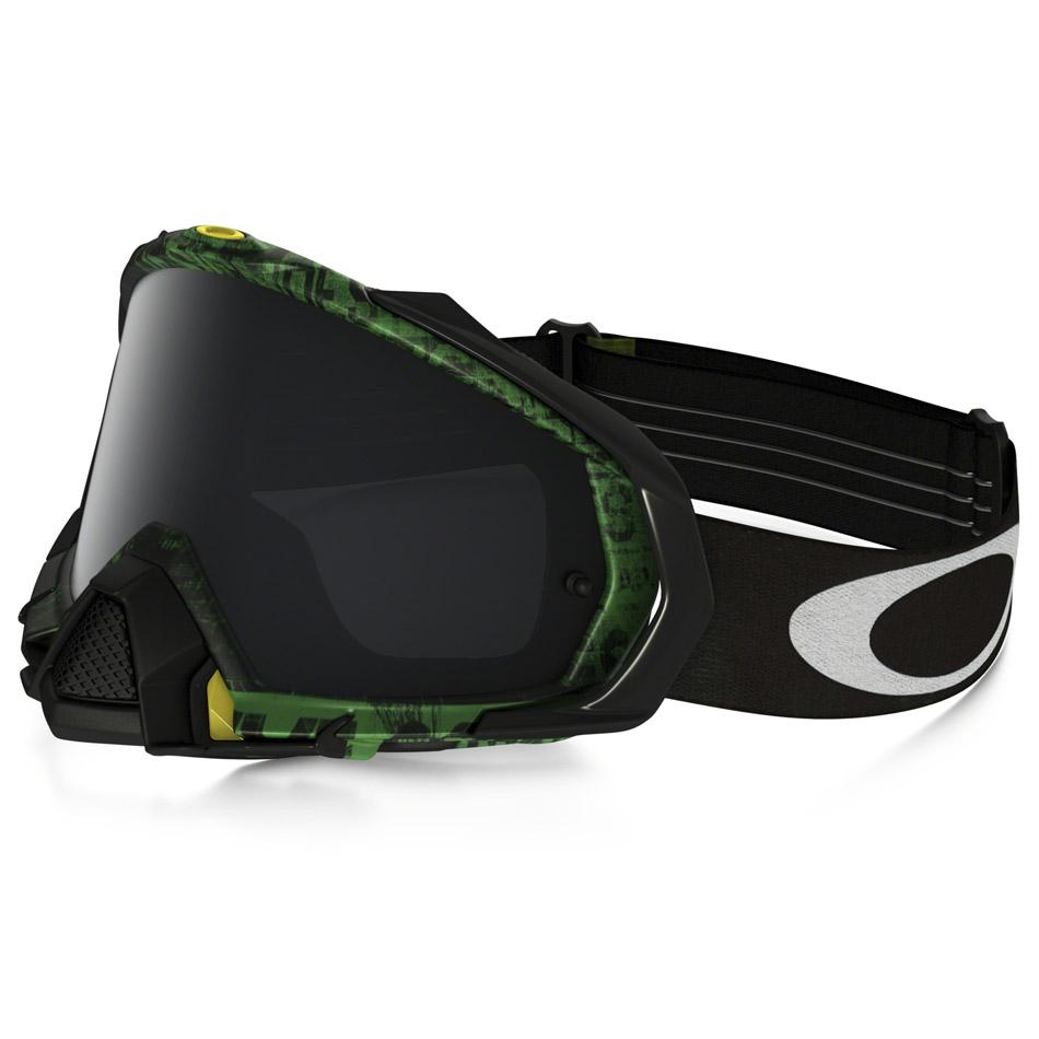 Oakley - Mayhem Pro Distress очки зелено-черные, линза темно-серая