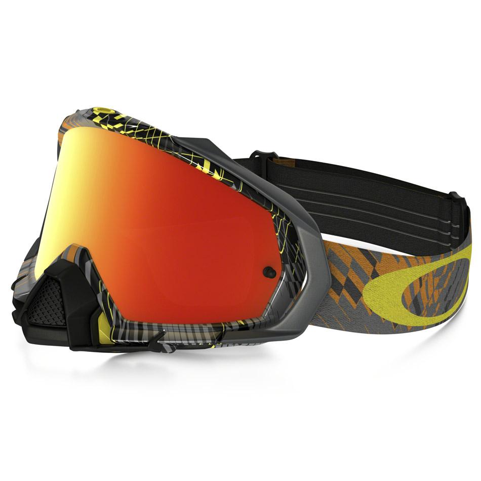 Oakley - Mayhem Pro Podium Check очки серо-желтые, линза зеркальная оранжевая