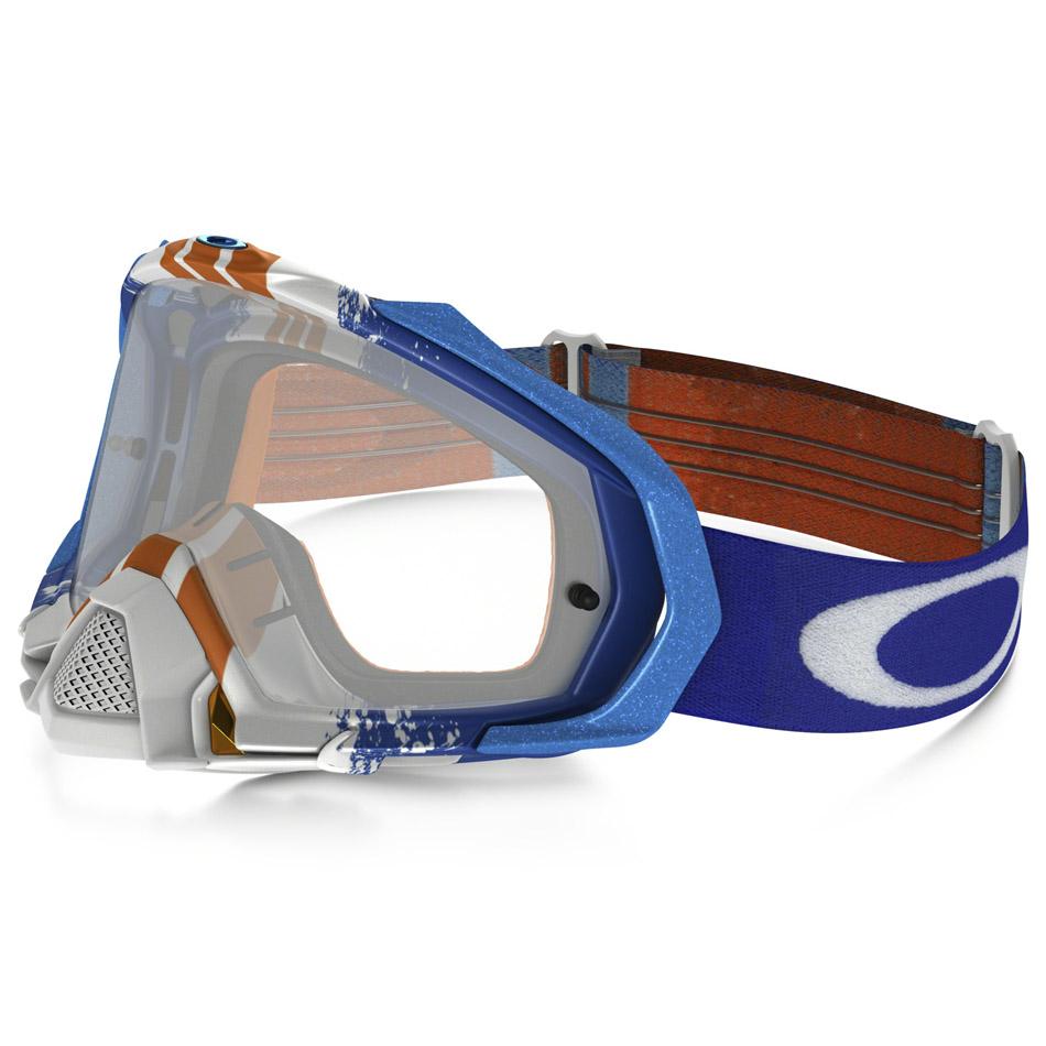 Oakley - Mayhem Pro Pinned Race очки сине-белые, линза прозрачная