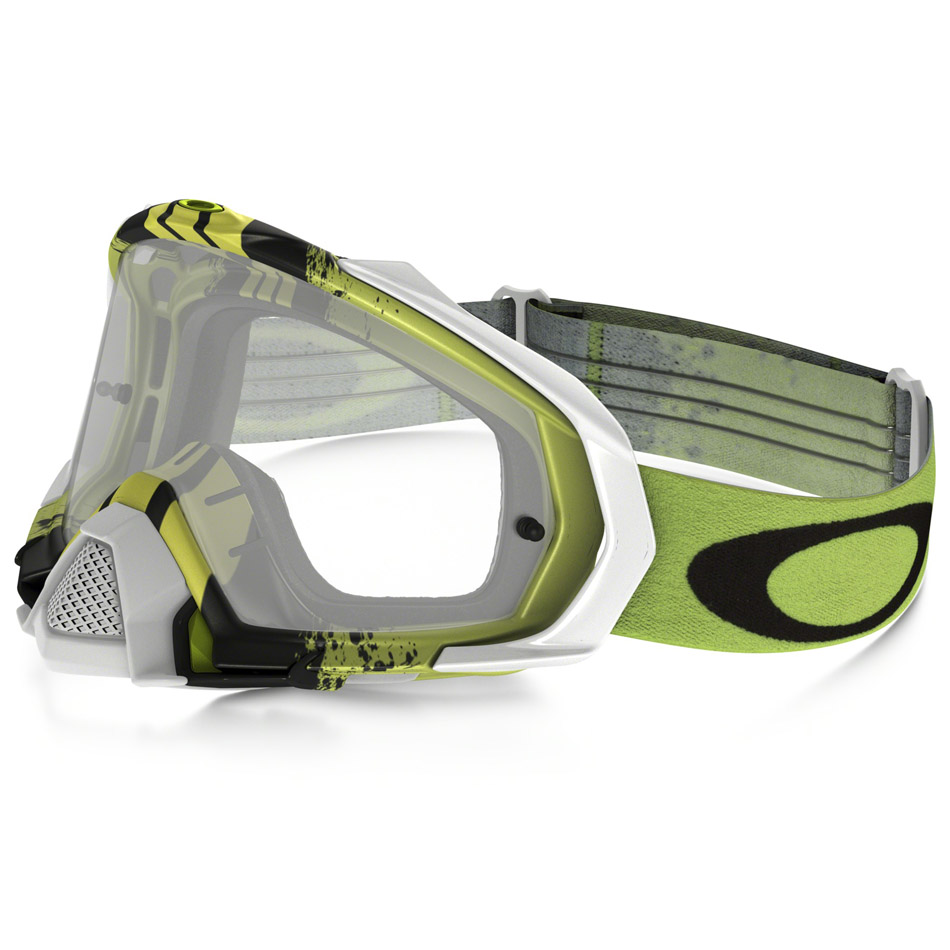 Oakley - Mayhem Pro Pinned Race очки зелено-белые, линза прозрачная