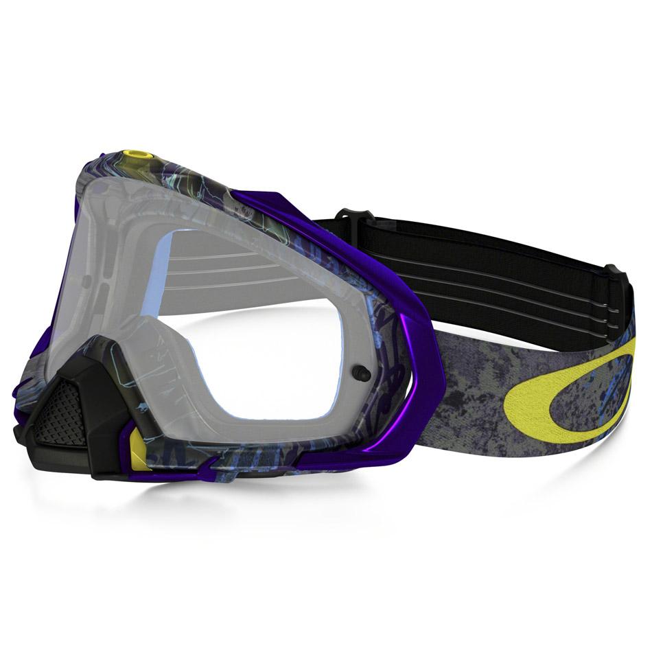 Oakley - Mayhem Pro Skull Pipe очки фиолетово-черные, линза прозрачная
