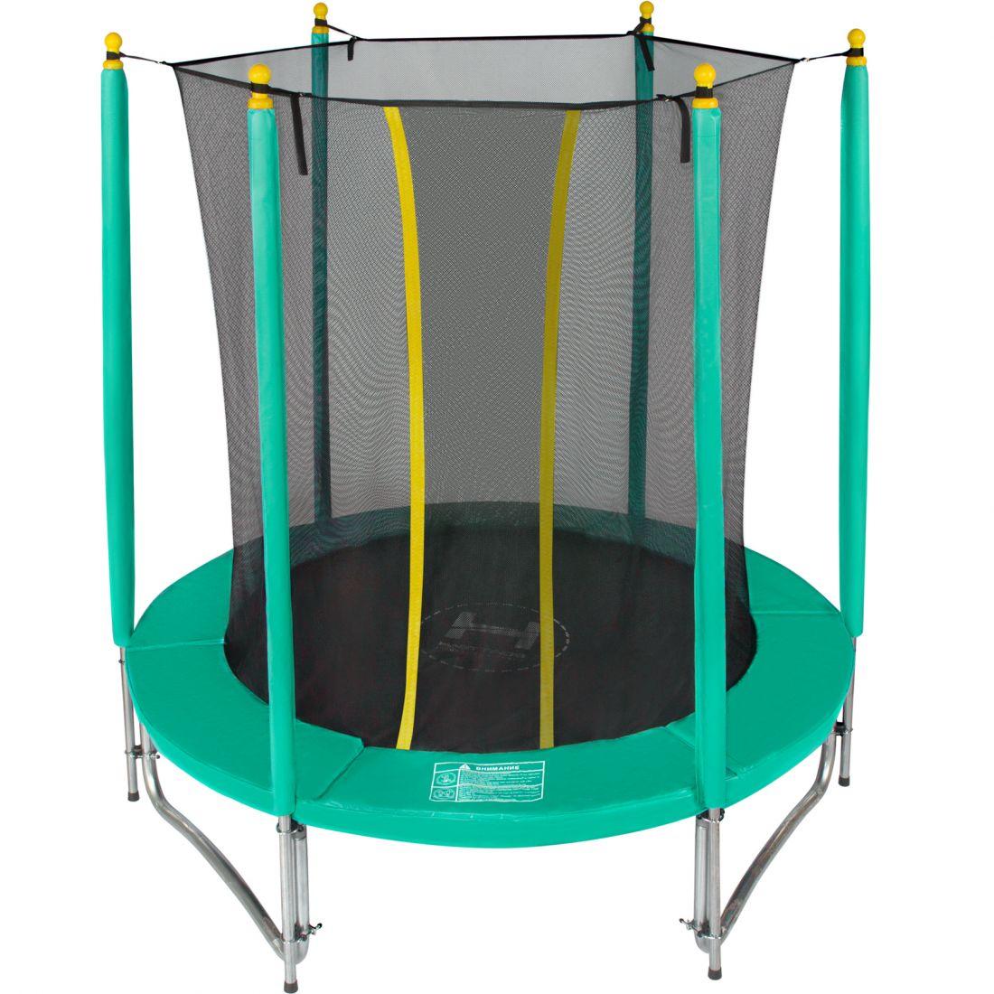 Батут с внутренней защитной сеткой - Hasttings Classic 6ft (1,82 м), цвет зеленый