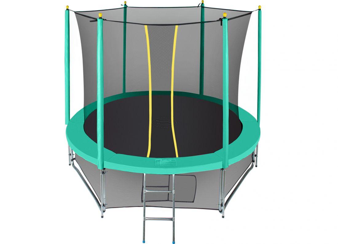 Батут с внутренней защитной сеткой - Hasttings Classic 8ft (2,44 м), цвет зеленый