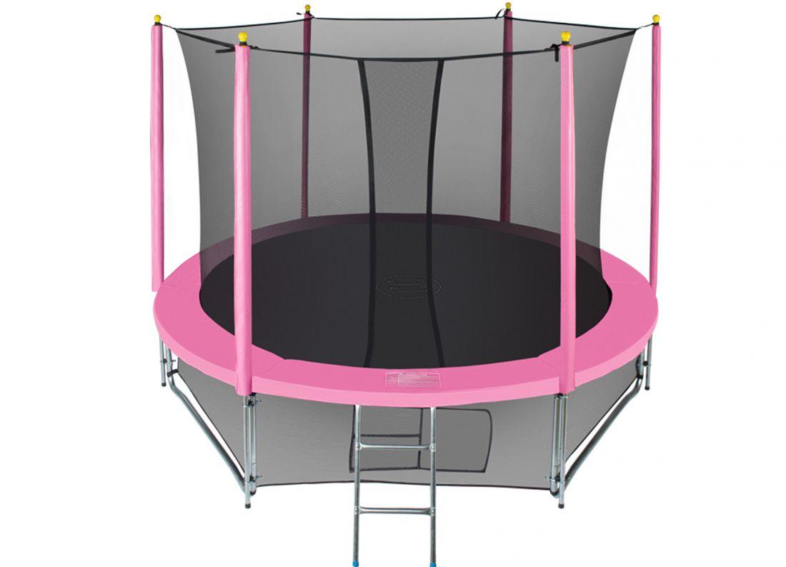 Батут с внутренней защитной сеткой - Hasttings Classic 10ft (3,05м), цвет розовый
