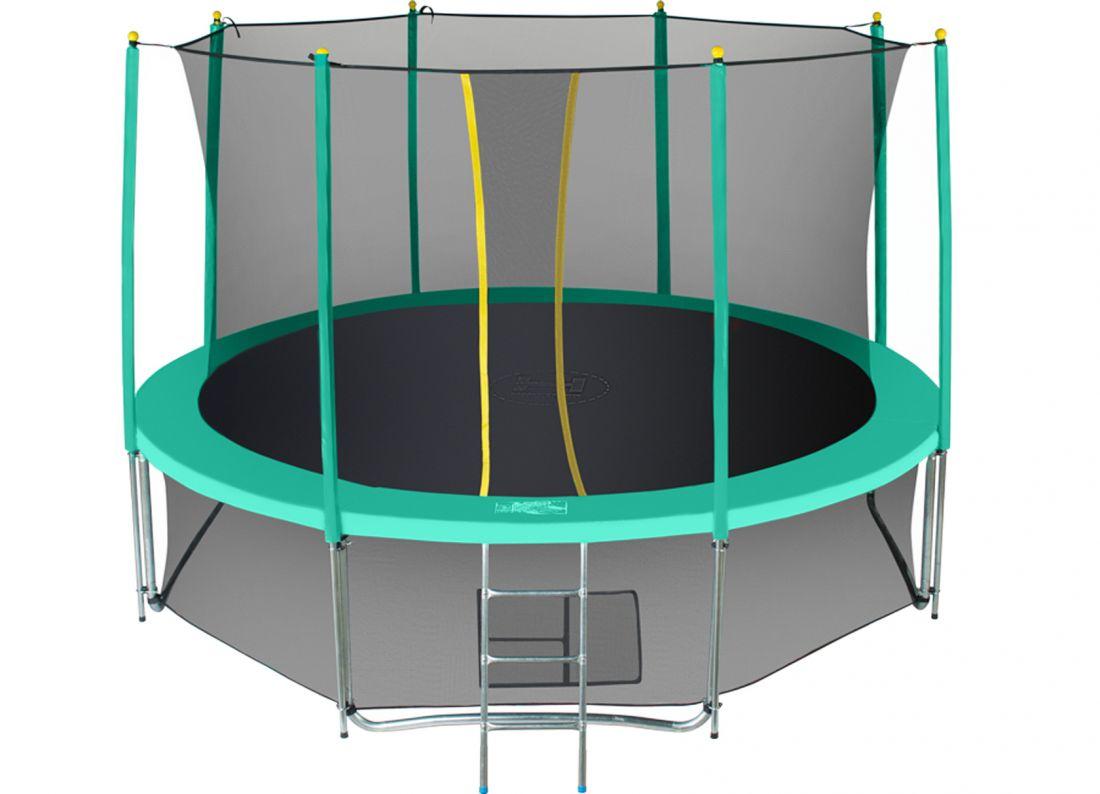 Батут с внутренней защитной сеткой - Hasttings Classic 12ft (3,66м), цвет зеленый