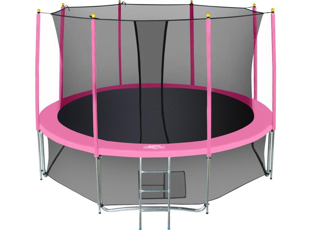 Батут с внутренней защтной сеткой - Hasttings Classic 15ft (4,6м), цвет розовый