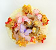 """Букет из игрушек с конфетами №659-5К """"Бими"""""""
