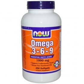 NOW Omega 3-6-9 (250 капс.)