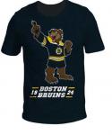 """Футболка детская """"Boston Bruins Kids Mascot"""" печать, черная"""
