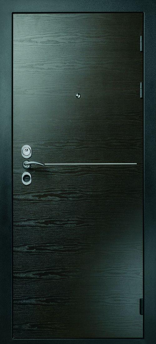 Металлическая входная дверь Гранит (Венге поперечный с молдингом)