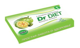 """Atax"" Жевательная резинка DrDiet, вкус имбирь+апельсин"