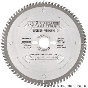 CMT 285.080.10R Диск пильный поперечное пиление 250x35x3,2/2,2 5гр 15гр ATB Z80