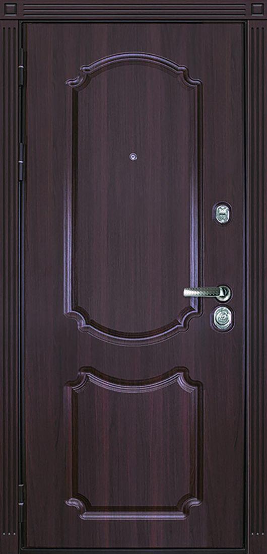 """Стальная дверь Барселона МДФ 16 мм. с PVC покрытием """"Орех темный"""""""
